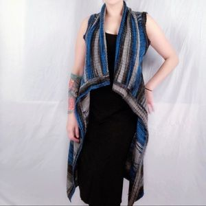 Moth Anthropologie Blue Space Dyed Duster Vest